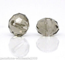 Wholesale Lots Crystal Glass Faceted Rondelle Spacer Beads 4mm