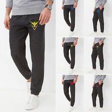 Pokemon Go Mens Casual Gym Training Sports Jogging Jogger Sweat Pants Trousers