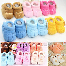 Winter Warm Newborn Kids Baby Boys Girls Infant Soft Crib Shoes Boots Slippers