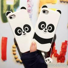 For iPhone 7 7 Plus 6S Plus New Korean Stylish Panda Silicone Rubber Case Cover