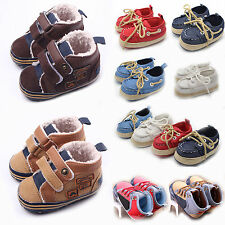 Infant Baby Kids Boys Girls Soft Sole Boots Casual Prewalker Crib Shoes Sneakers