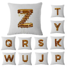 Creative 26 Letters Throw Pillow Case Decorative Cushion Cover Sham