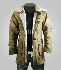 BANE DARK KNIGHT RISES Cowhide Distressed Buffing Brown Leather Jacket/Coat
