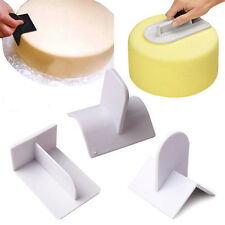 Cake Decorating edge Smoother Paddle Tool Sugarcraft Icing Fondant Polisher new