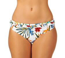 Audelle Lepel Tropical Fever Mid rise Hipster Bikini Brief Pant White Floral 12