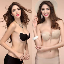Sexy Silicone Adhesive Stick Gel Push Up Strapless Invisible Bra Backless Nubra
