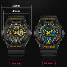 Sanda Men Dual Time Anti Shock Waterproof Analog Digital Sports Quartz Watch 241