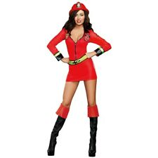 Sexy Firefighter Costume Adult Halloween Fancy Dress