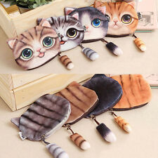1PC Coin Bag Purse Cute Cartoon Small Tail Cat Coin Purse Wallet For Women