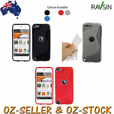 Apple Ipod Touch 6 5th Gen Case TPU Soft Smooth Gel Skin Cover Ipod 6 +Protector