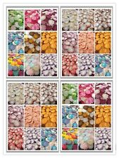 "100 Artificial Mulberry Paper flowers Petal Handmade Daisy Scrap-booking 1"" #CA"