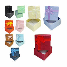 1Pcs Ring Earring Necklace Square Jewellery Gift Case Boxes Display Package CL