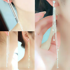 Rhinestone Ear Studs Earrings Long Fashion New Tassel Pearl Lucky Girl Women