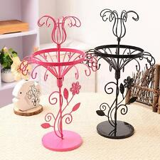 Vintage Metal Family Flower Shape Earring Jewelry Display Stand Organizer Holder