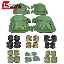 Tactical Knee & Elbow X Shape Protective Pads Set Cushion Military Airsoft Army
