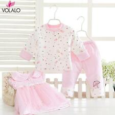 2016  princess style Winter Infant Baby Girl Sweet Clothes Clothing Set 3 pieces