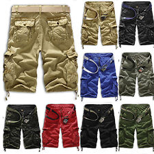 Fashion Mens Cargo Pants Shorts Trousers Casual Military CAMO Combat Army Slacks