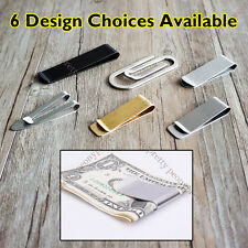6 Design High Quality Stainless Steel Slim Money Clip Credit Card Holder Wallet