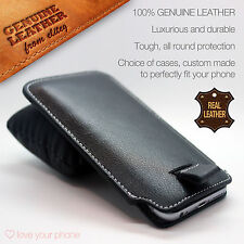 Luxury Genuine Leather Pull Tab Flip Pouch Sleeve Phone Case Cover for HTC