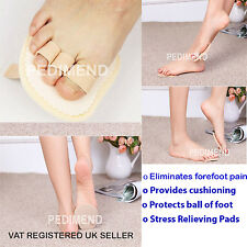 PEDIMEND Fabric & Gel Medicated TOE / BALL OF FOOT PAIN CUSHION & METATARSAL PAD