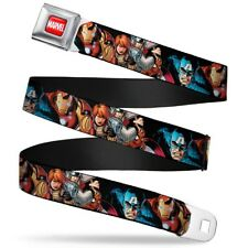 Avengers Marvel Comics Superheroes Assembled Heroes Seatbelt Belt
