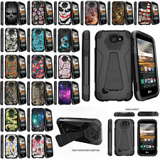 For LG K4 | Optimus Zone 3 Dual Layer Shell Protective Case Built-in Kickstand