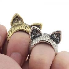 Gift Cute Unisex Vintage Jewelry Silver Bronze Cat Ears Ring