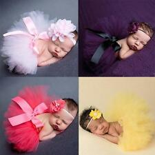 Matching Flower Girl Hairband Baby Headband Tutu Skirt Photography Props