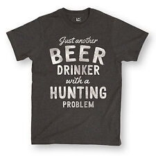 Beer Drinker Hunting Problem-Adult Short Sleeve Tee