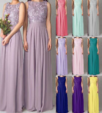 Long Bridesmaid Dress Formal Evening Gown Lace/chiffon Party Prom Dress Size2-16