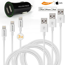[+Car Charger] 3 X10FT Apple Standard 8 Pin USB Data Sync Cable Cord iPhone iPod