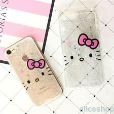For iPhone 7 7 Plus 6 6S Fashion Bling Glitter Hello Kitty Soft Candy Case Cover