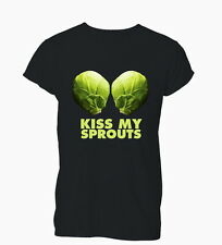 Kiss My Sprouts Funny Offensive Humour Rude Mens Tshirt T-Shirt Womens Ladies