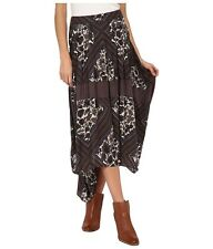 Free People Paradise Printed Skirt Tea Combo Brown Size 2 New NWT $128