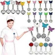 Nurse Clip-on Fob Brooch Pendant Hanging Butterfly Quartz Watch Pocket Watch New