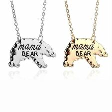 Sell Cartoon Gift Mother's Day Alloy Chain Jewelry Pendant Necklace Mama Bear