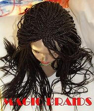 "Fully Braided LACE Front WIG box braids color brown  20"" to 24"" NIARRA deep part"