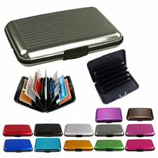 Business ID Credit Card Wallet Holder Aluminum Metal Pocket Case Box Purse FY