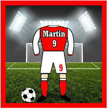 PERSONALISED 60s / 70s FOOTBALL SHIRT - FUN NOVELTY COASTERS - NAME / NUMBER NEW