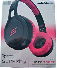 GENUINE SMS AUDIO STREET BY 50 ON-EAR WIRED SPORT PINK HEADPHONES SMS-ONWD-PNK