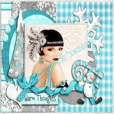 ART DECO blue & white Greeting Card Designed by Dazzling Ace Designs