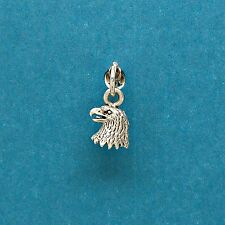Eagle Head 925 Sterling Silver Mini Charm for Bracelets with Options