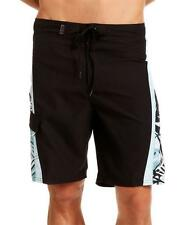 NWT Beach Rays Adult Mens Black Color Elastic Band Surf Swim Board Short A0414