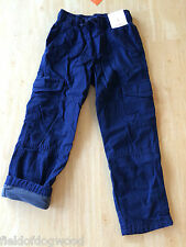NWT Gymboree Boys Pull on Navy JERSEY lined Athletic Pants 6,7,10 Ski Patrol