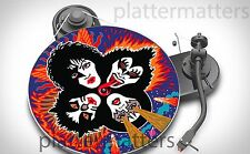 """Limited Edition Record Collector's  KISS  7"""" or 12"""" inch TURNTABLE platter MAT"""