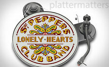 BEATLES Record Collector Sgt. Pepper's 7 & 12 inch TURNTABLE platter MAT see all
