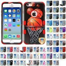 For Apple iPhone 6/6S [4.7] Hybrid TUFF IMPACT Phone Case Hard Rugged Cover