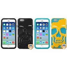 For Apple iPhone 6/6S [4.7] Hybrid Skull Skeleton Impact Hard Soft Case Cover