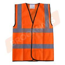 HI VIZ VIS ORANGE KIDS PLAIN VEST, WAISTCOAT JACKET CHILD