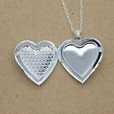 Without Necklace Vintage Silver Plated Locket Pendant Photo Charm Love Heart